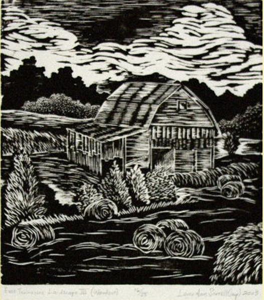 E tn landscape iii s n woodcut print for Artworks landscape ltd