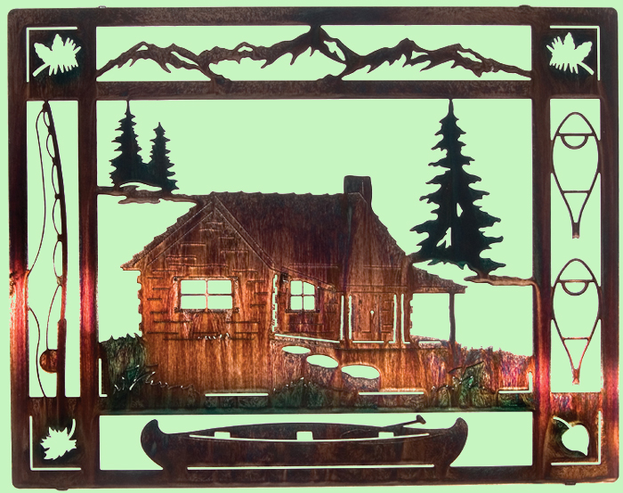 Cabin Wall Art at the cabin - metal wall art